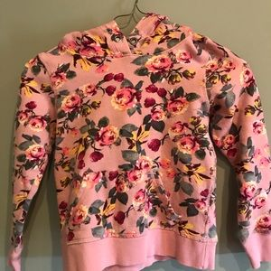 H&M Girls Floral Sweat Shirt, Hoodie